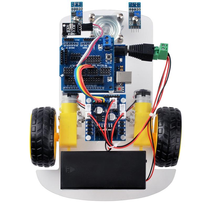 Osoyoo wd robot car starter kit lesson line tracking