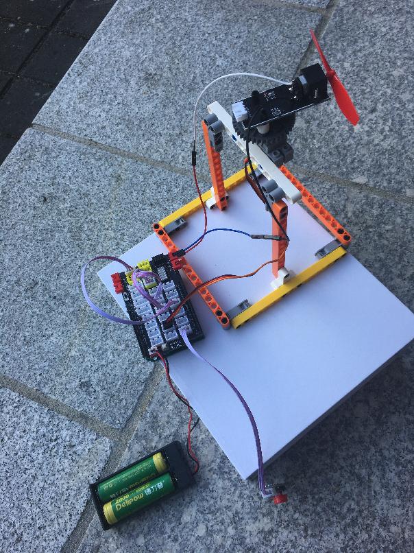 OSOYOO  Building Brick Kit Arduino Lesson 1: Oscillating Pedestal Fan