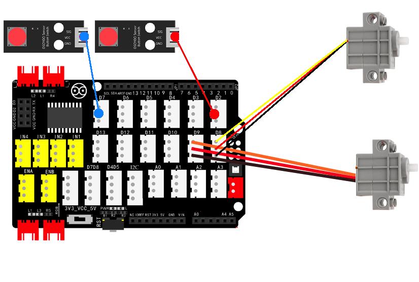 OSOYOO  Building Brick Kit Arduino Lesson5: PingPong Ball