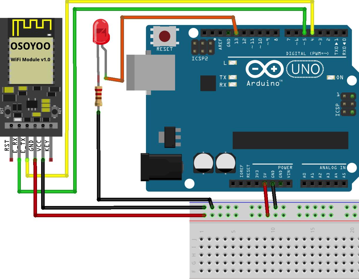 OSOYOO ESP8266 Wi-Fi Module Lesson 3: Remote control LED with UDP protocol