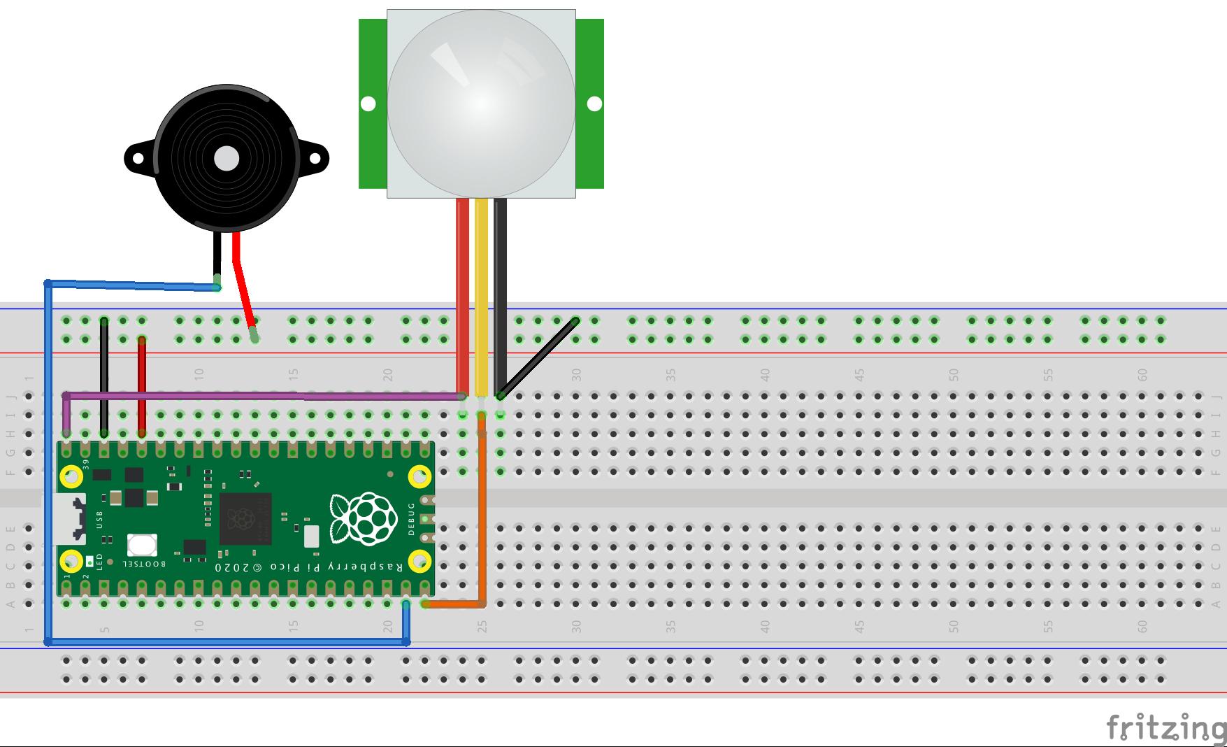 Pico Graphic Programming Lesson 5: Intruder Alarm System