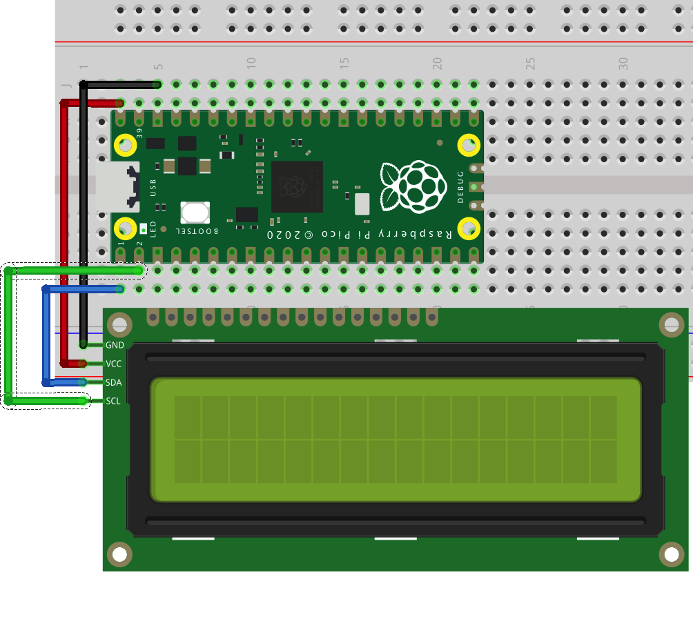 Raspberry Pi Pico Learning Kit Lesson 4: Show temperature to I2C LCD