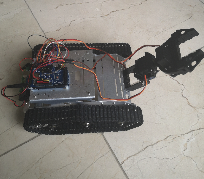 Use Wifi UDP app to control   Robot Car and 3 DOF Arm