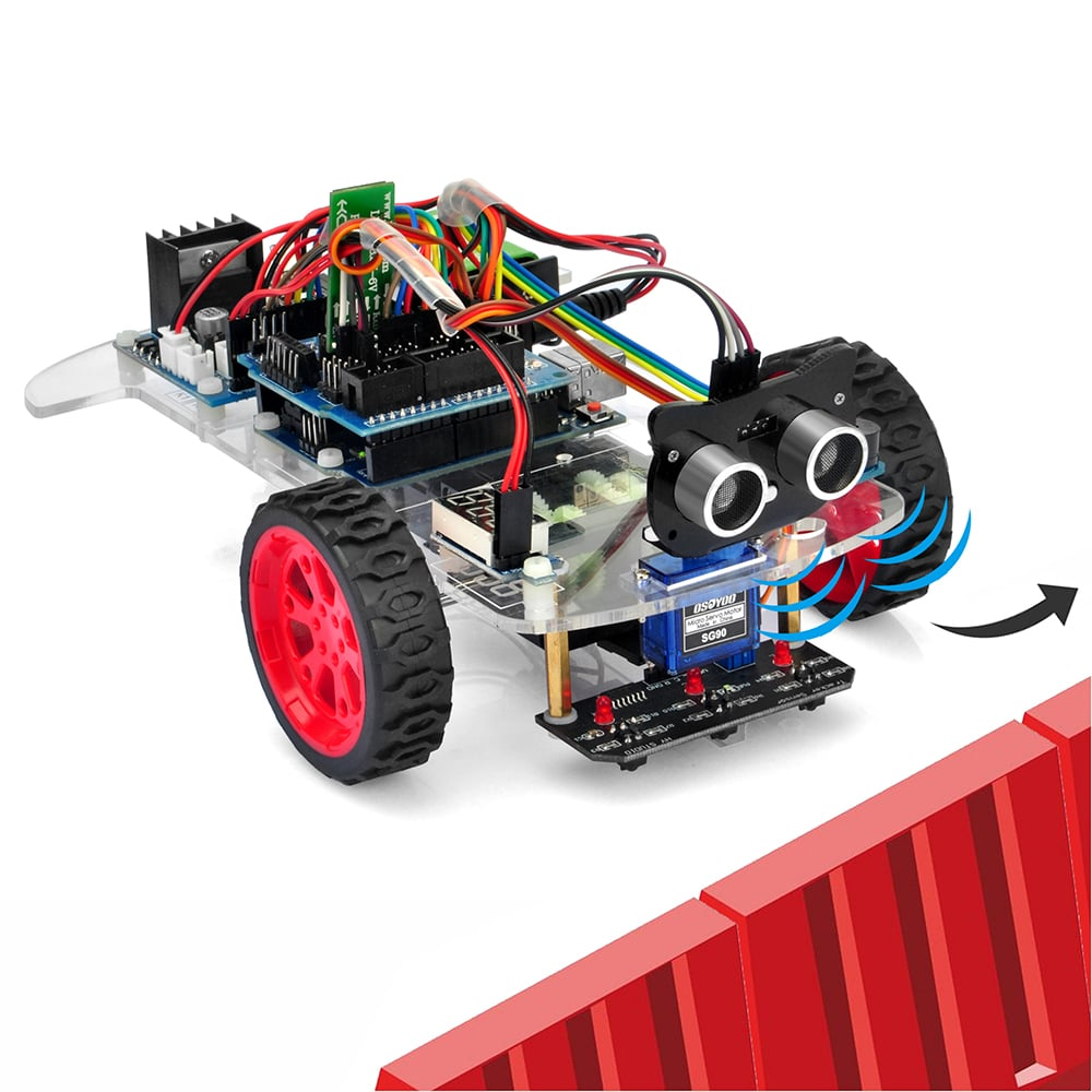 Osoyoo Model-3 Robot Learning Kit Lesson 5: Obstacle avoidance