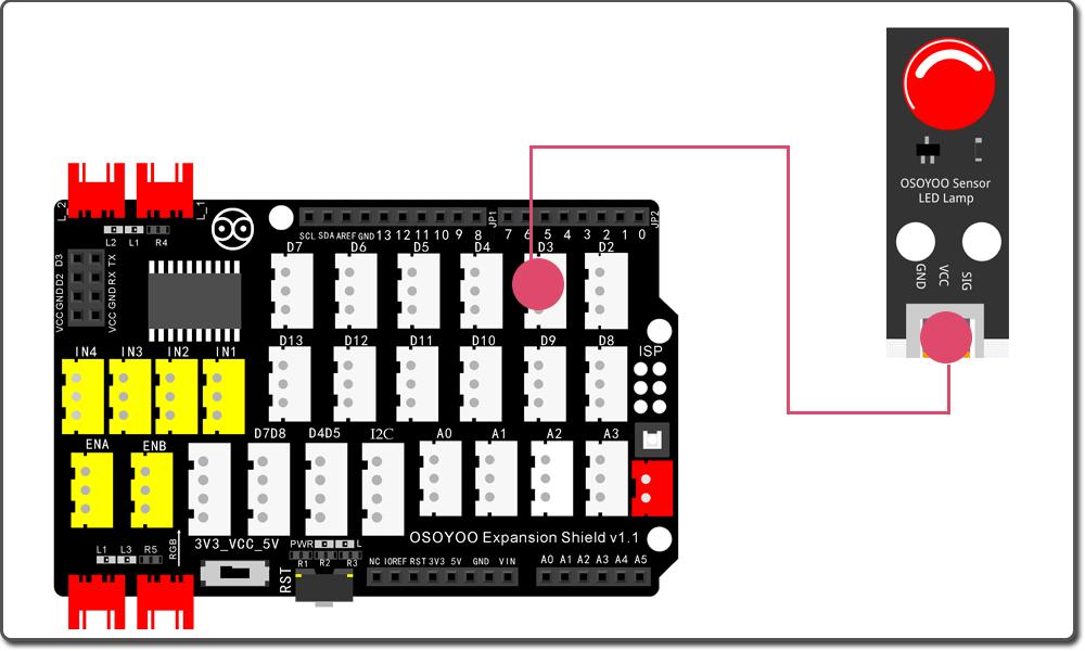 Arduino Graphic programming learning kit Lesson 1: Blinking LED