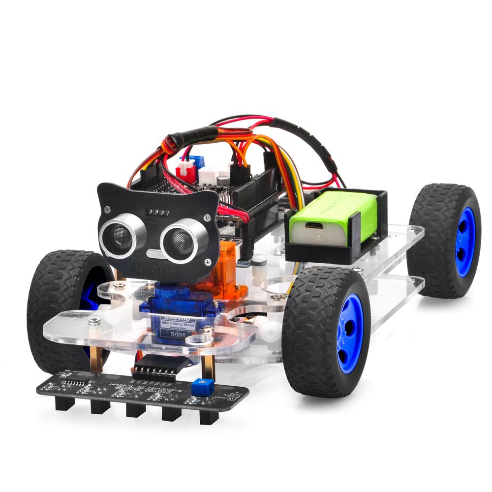 OSOYOO Sport Car for Arduino Lesson 1: Hardware Installation and  Servo Test