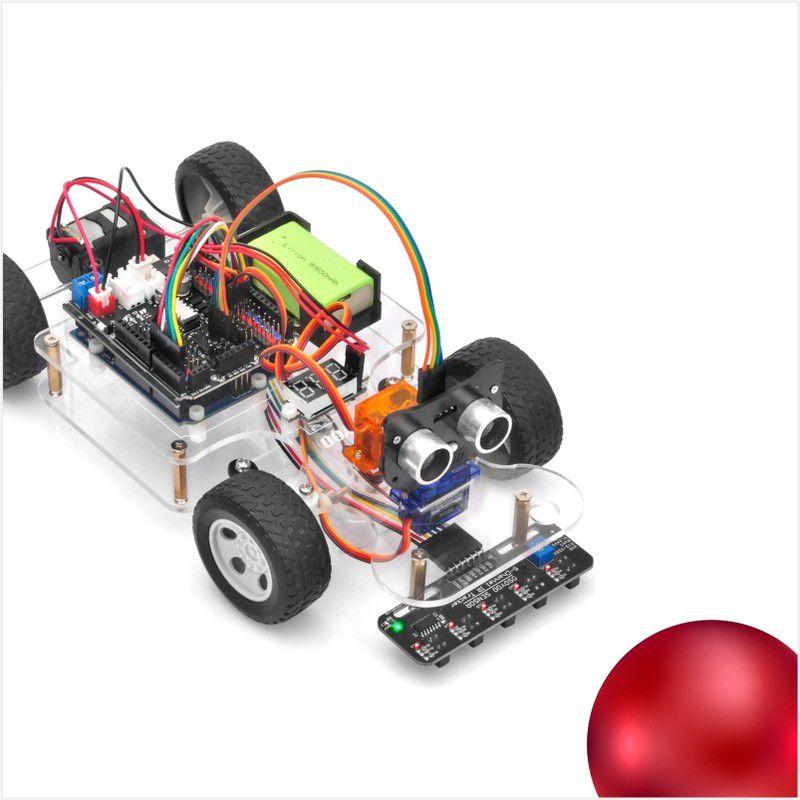 OSOYOO Sport Car for Arduino Lesson 4: Obstacle Avoidance