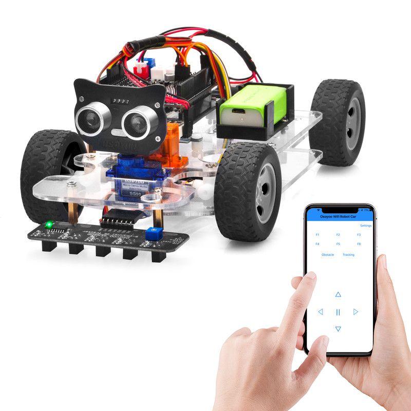 OSOYOO Sport Car for Arduino Lesson 5: Wifi UDP control robot car