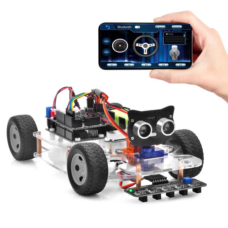 OSOYOO Sport Car for Arduino Lesson 6: Mock Driving with Bluetooth APP