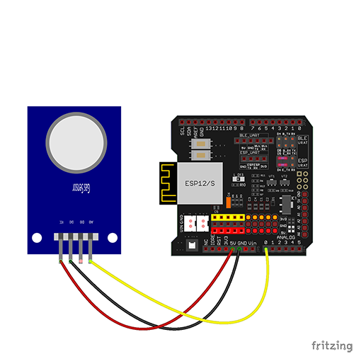 WiFi Internet of Things Arduino Learning Kit Lesson 8: Gas Detection