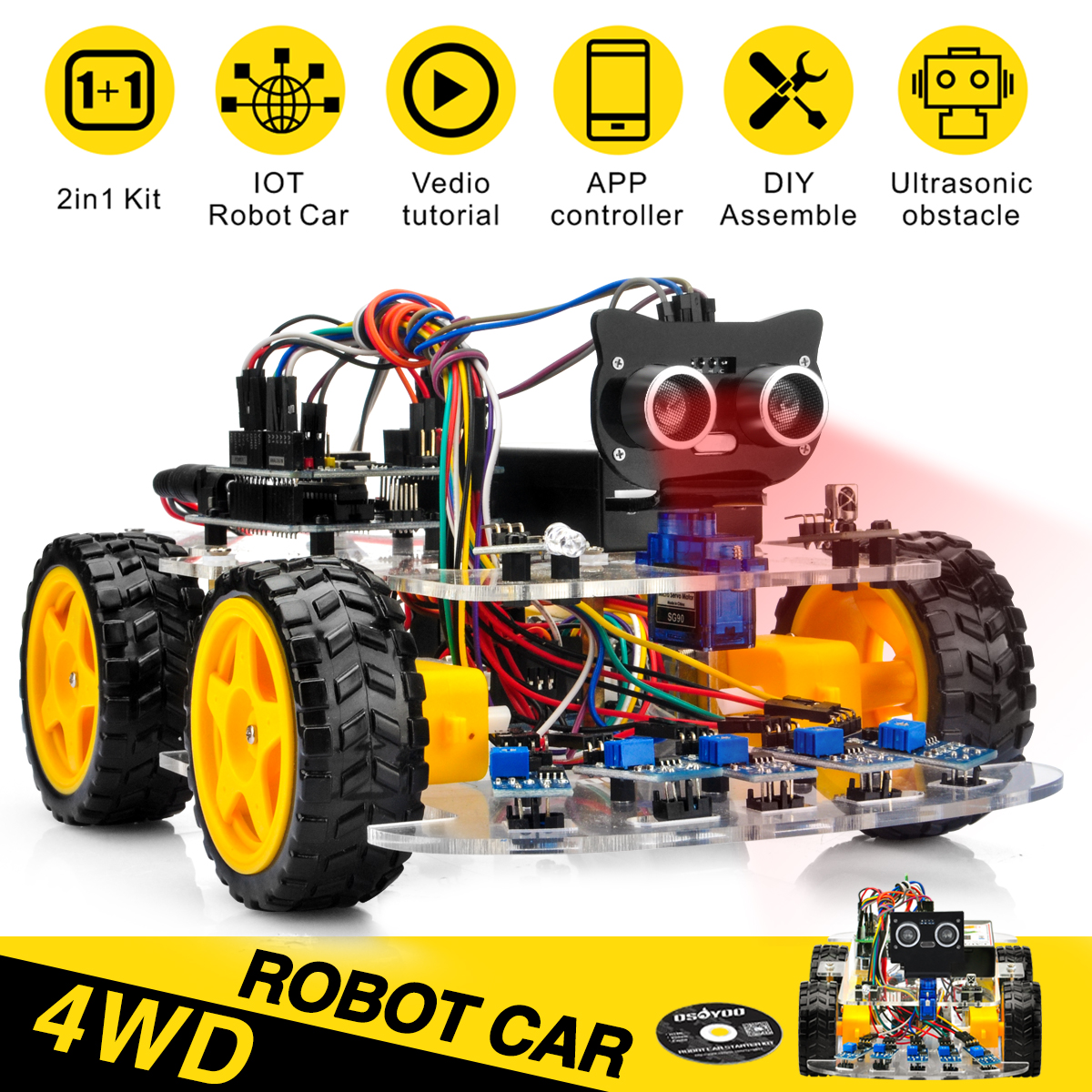 OSOYOO V2.1 Robot Car Kit for Arduino Tutorial : Introduction