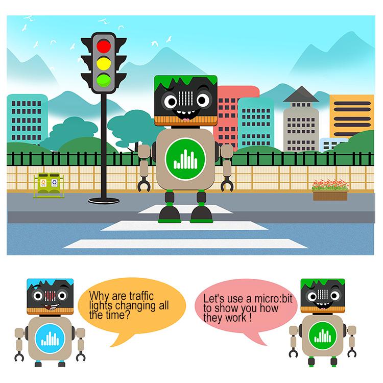 Micro:bit STEM Lesson 5: Mini Traffic Light