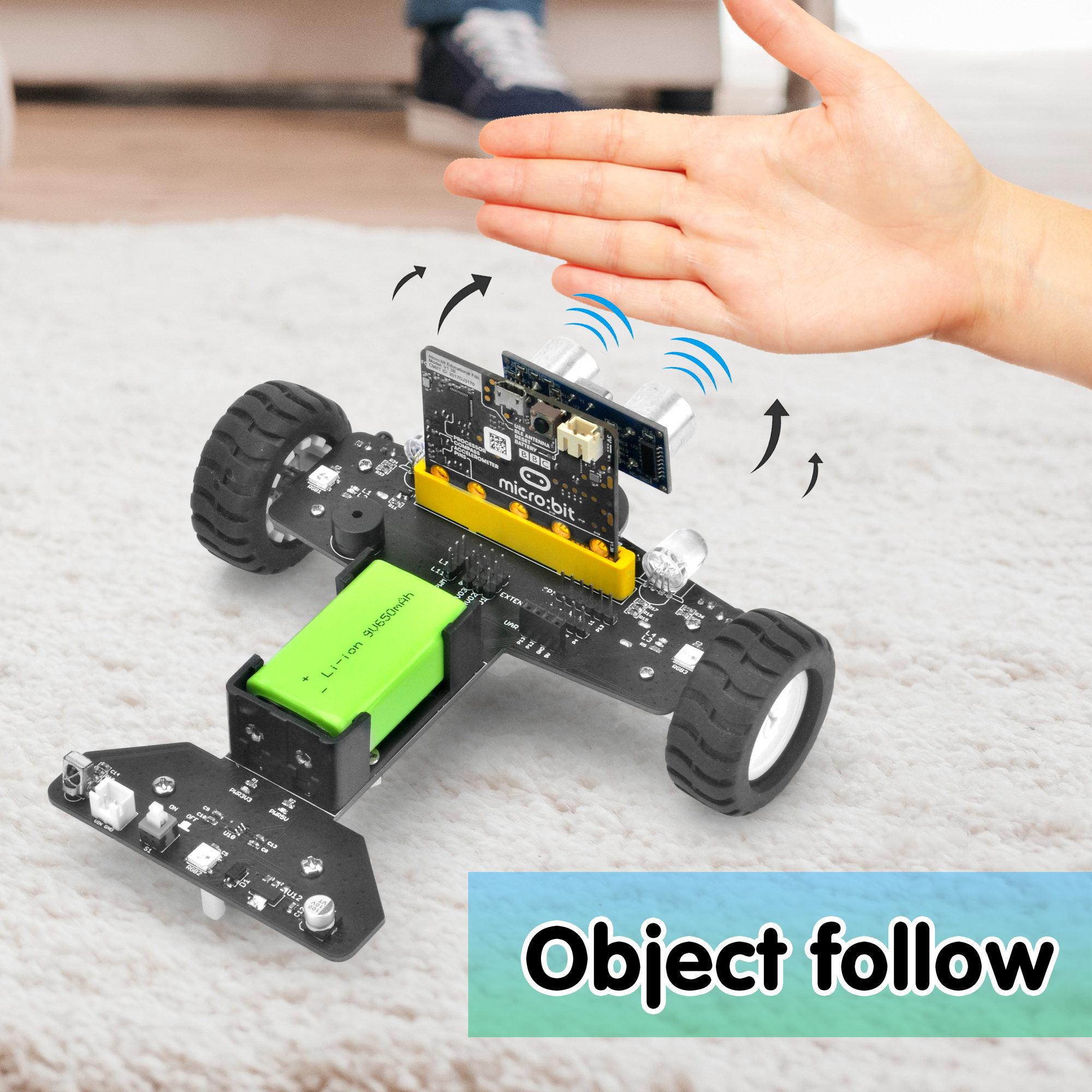 OSOYOO Robot Car for Micro Bit Lesson 11- Ultrasonic Following