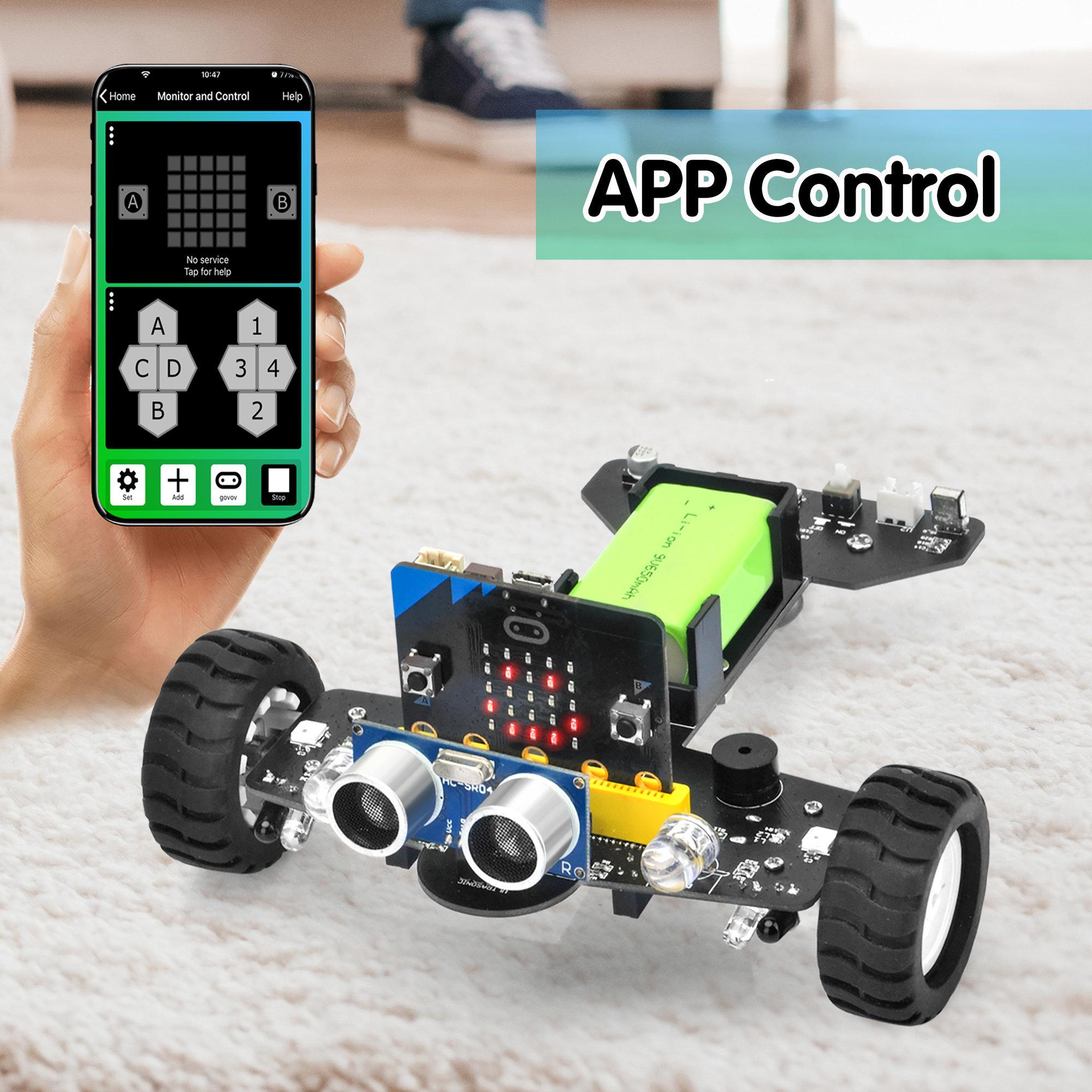 OSOYOO Robot Car for Micro Bit Lesson 15- IOS APP Remote Control Robot