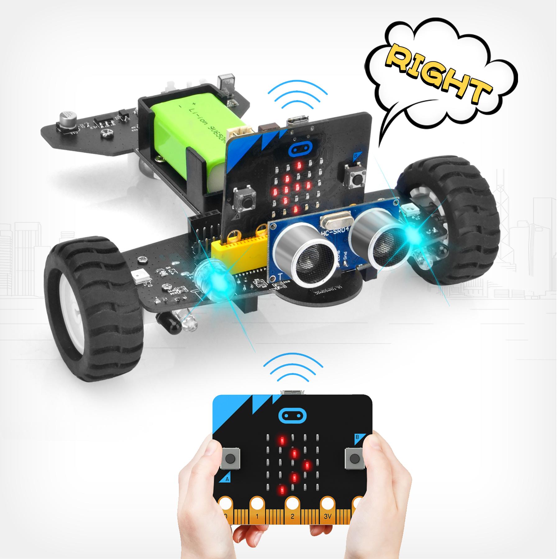 OSOYOO Robot Car for Micro Bit Lesson 16- Radio Remote Control