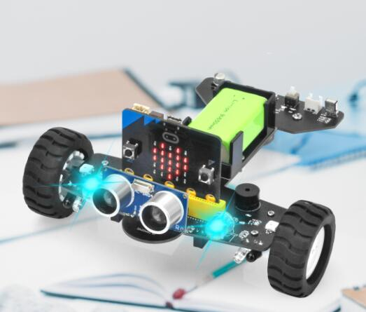 OSOYOO Robot Car for Micro Bit Lesson 6- RGB Headlights
