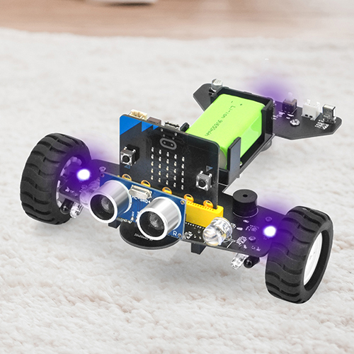 OSOYOO Robot Car for Micro Bit Lesson 7- Full Color RGB LEDs control