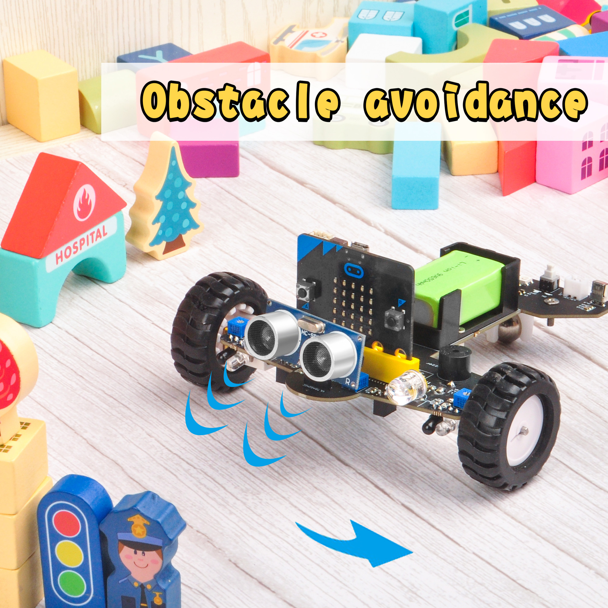 OSOYOO Robot Car for Micro Bit Lesson 12- IR Avoid obstacle