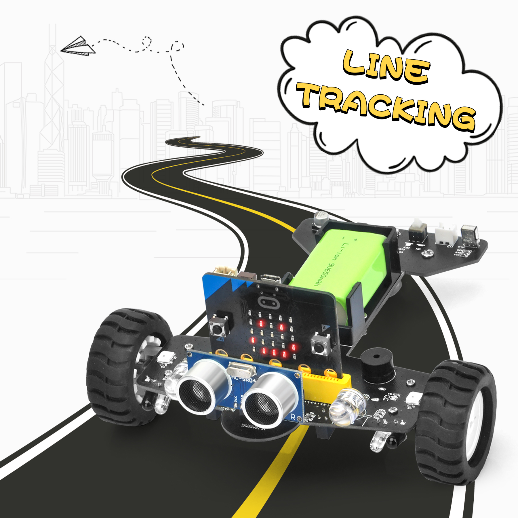 OSOYOO Robot Car for Micro Bit Lesson 10- Tracking Robot