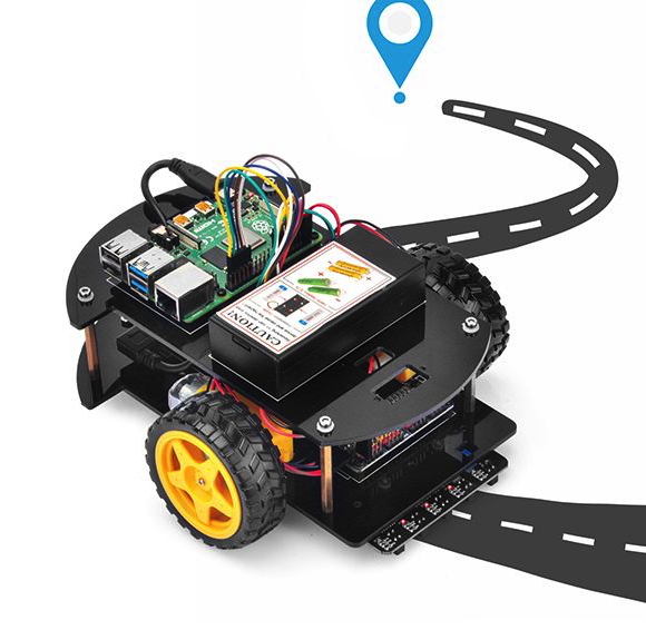 OSOYOO Raspberry Pi V2.0 car lesson 2:   Line Tracking (C language)