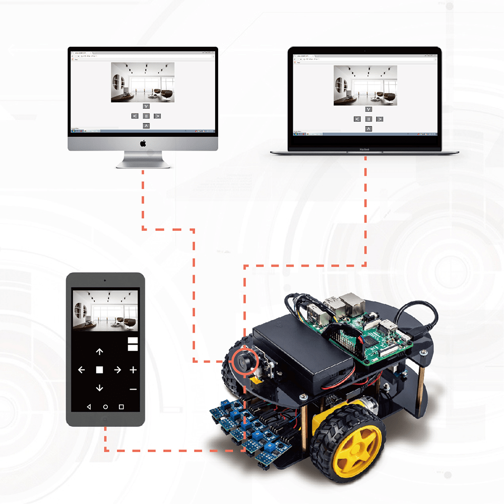 Raspberry Pi Robot Car DIY Learning Kit Lesson 3: Simple Installation - Web Control Camera