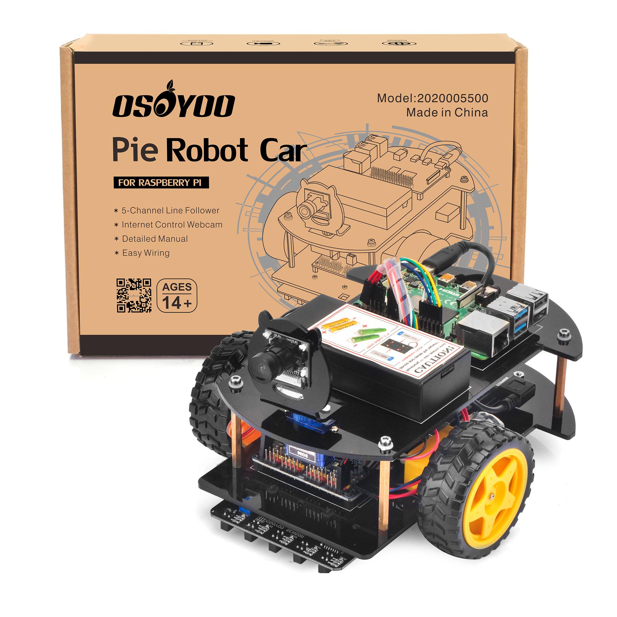 OSOYOO Raspberry Pi V2.0 Car Introduction Model#2020005500
