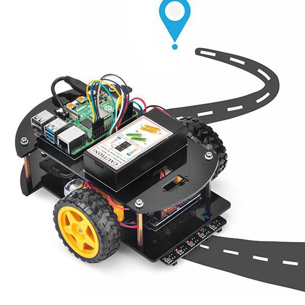 OSOYOO Raspberry Pi V2.0 car lesson 2:   Line Tracking (Python)