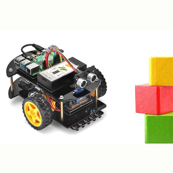 OSOYOO Raspberry Pi V2.0 Car lesson 3:  Obstacle Avoidance