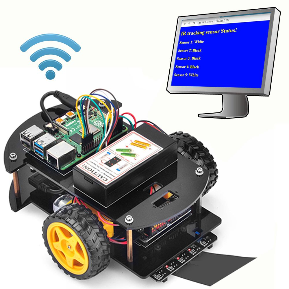 OSOYOO Raspberry Pi V2.0 car lesson 5: Make a simple website server in Pi