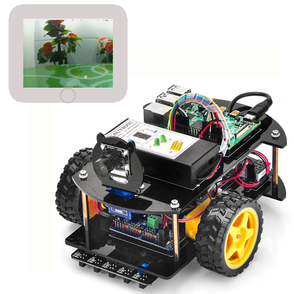 OSOYOO Raspberry Pi V2.0 car lesson 6:  Web-Camera-Controlled IoT Raspberry Pi Robot Car