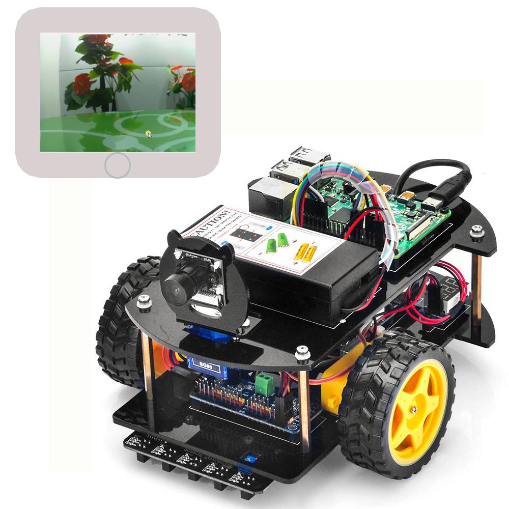 Pie Robot Car Lektion 6: Drehbare Web-Kamera programieren und steuern