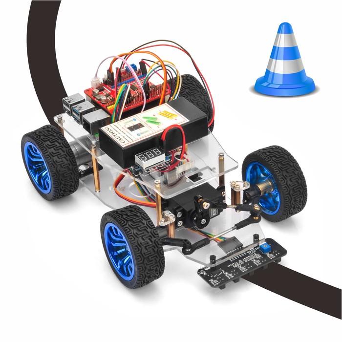 OSOYOO Servo Steer Smart Car for Raspberry Pi Lesson 3: Line Tracking