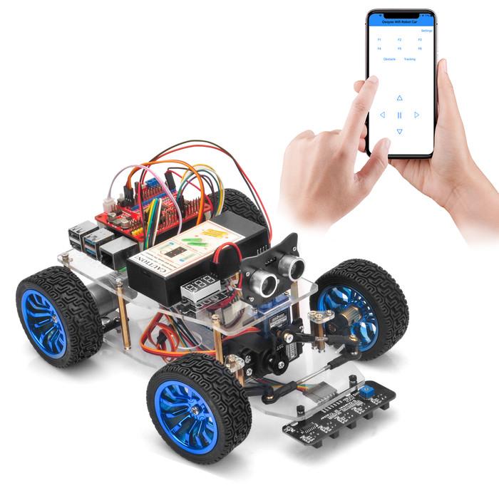 OSOYOO Servo Steer Smart Car for Raspberry Pi Lesson 5: Wifi UDB control by phone