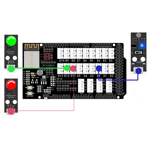 OSOYOO Smart Home IoT Learning Kit Lesson 11: Remote monitor Sound Sensor status