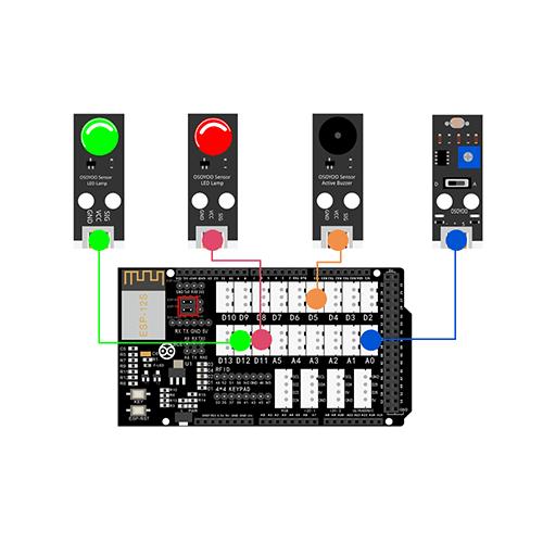 OSOYOO Smart Home IoT Learning Kit Lesson 12: Remote monitor Light Sensor status