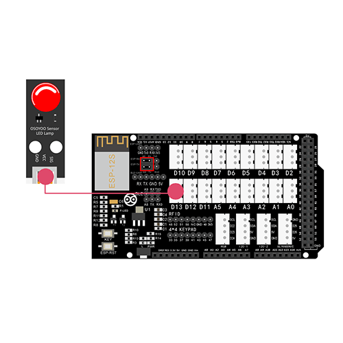 OSOYOO Smart Home IoT Learning Kit Lesson 4: Remote Control  LED in D13 Slot