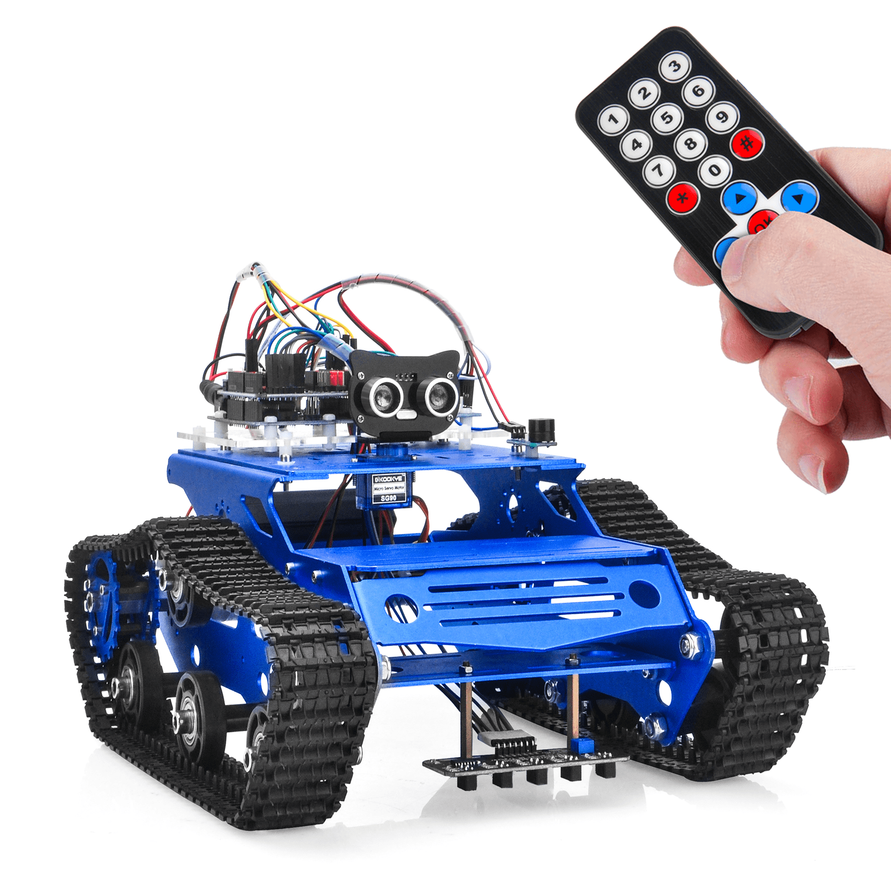 Robot Tank Car Kit V2.0 Lesson2: IR Remote controlled