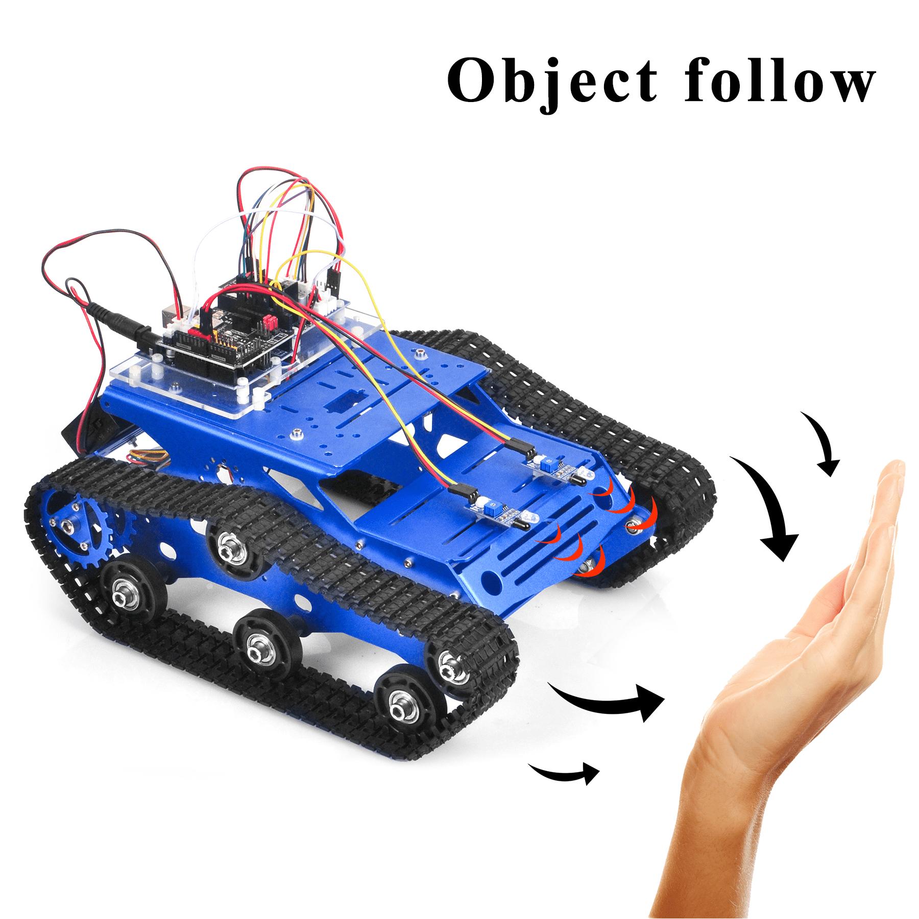 Robot Tank Car Kit V2.0 Lesson3: Object follow