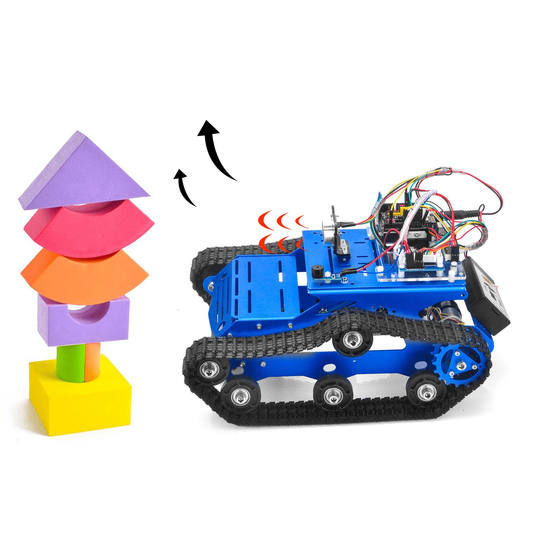 Robot Tank Car Kit V2.0 Lesson5: Obstacle avoidance