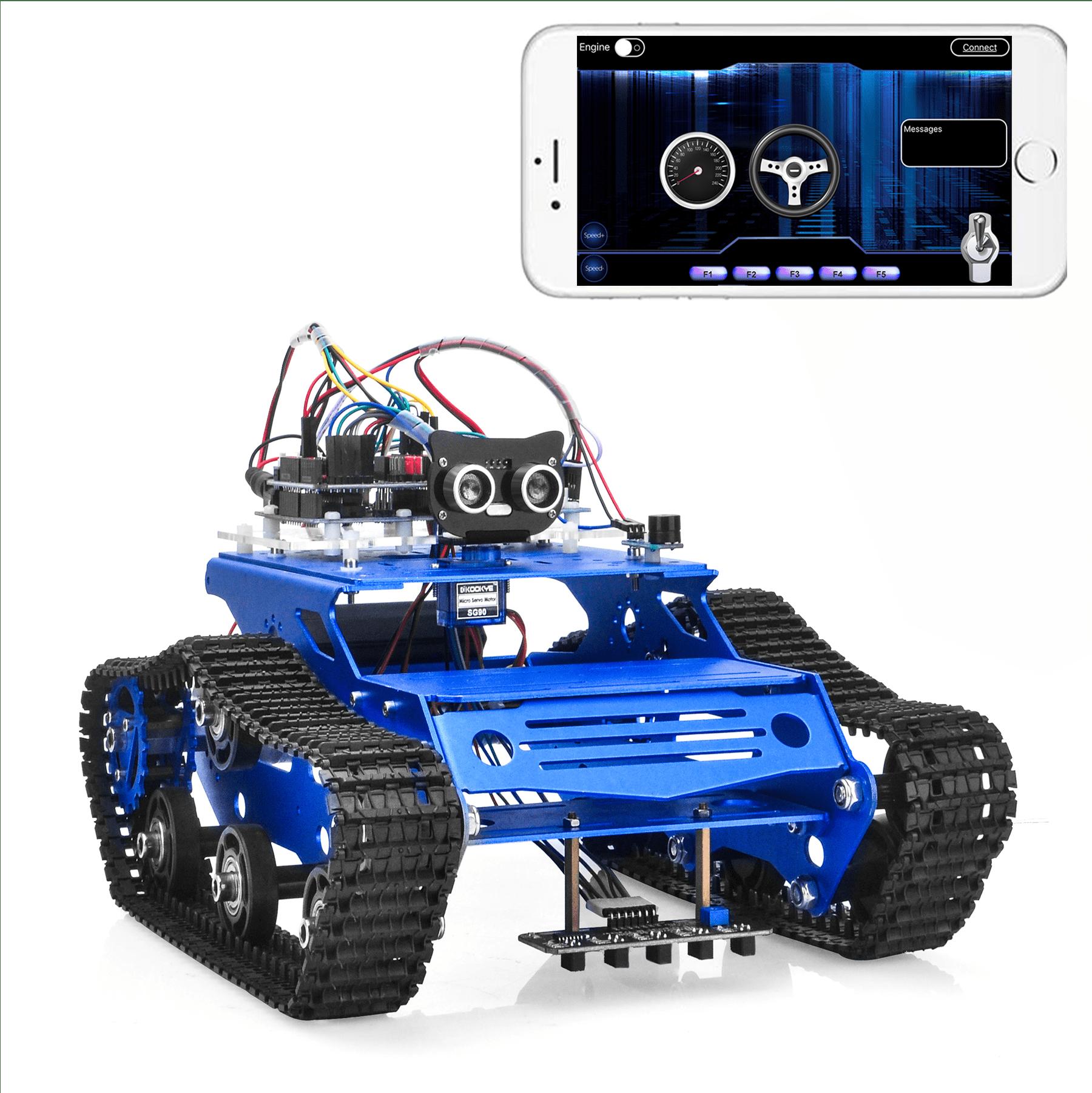 Robot Tank Car Kit V2.0 Lesson7: Simulator driving with bluetooth