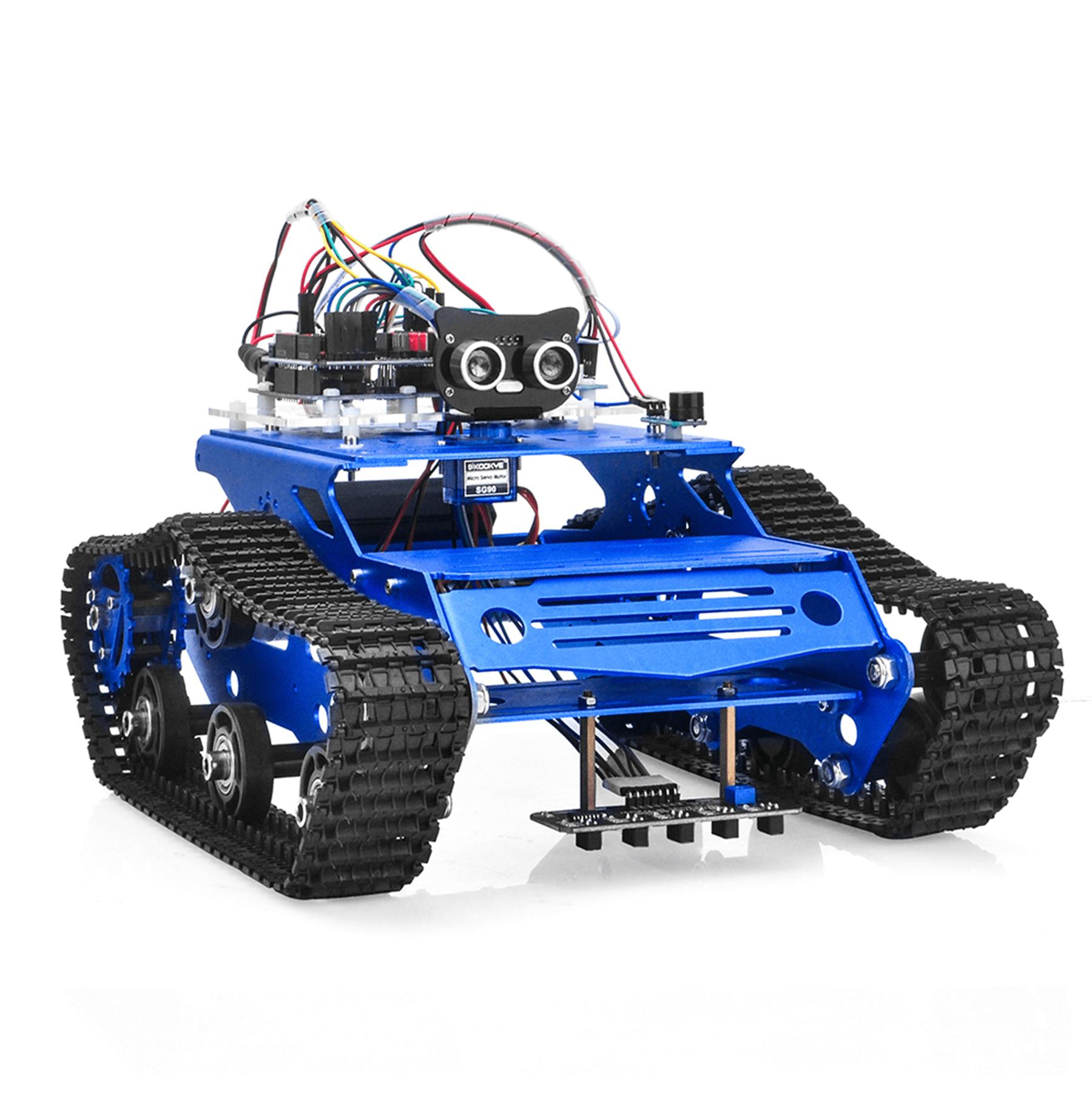 Robot Tank Car Kit V2.0 Lesson8: Use encoder to synchronize motor speed
