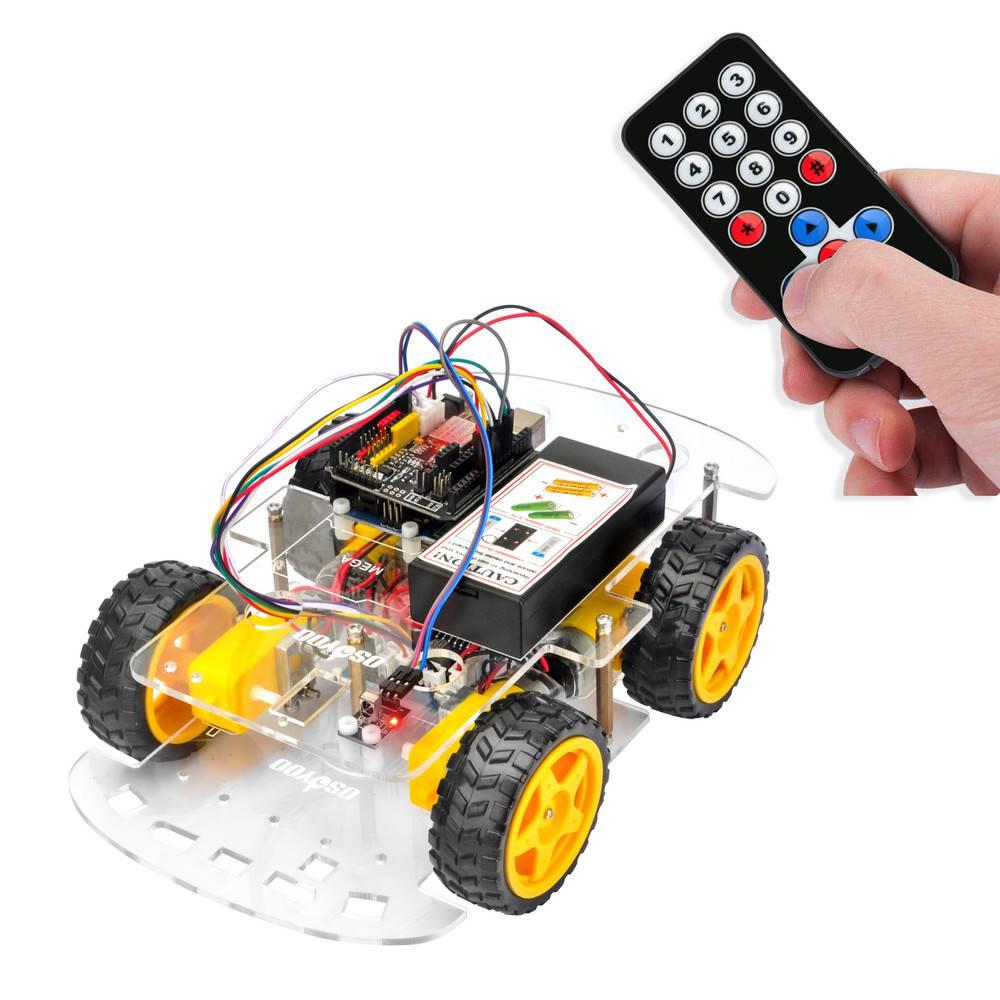 OSOYOOロボットカーキットレッスン2:赤外線リモコンでロボットカーを制御