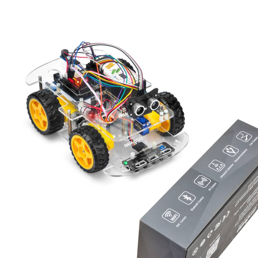 OSOYOO V2.1 Robot car kit Lesson 5: Obstacle Avoidance Robot Car