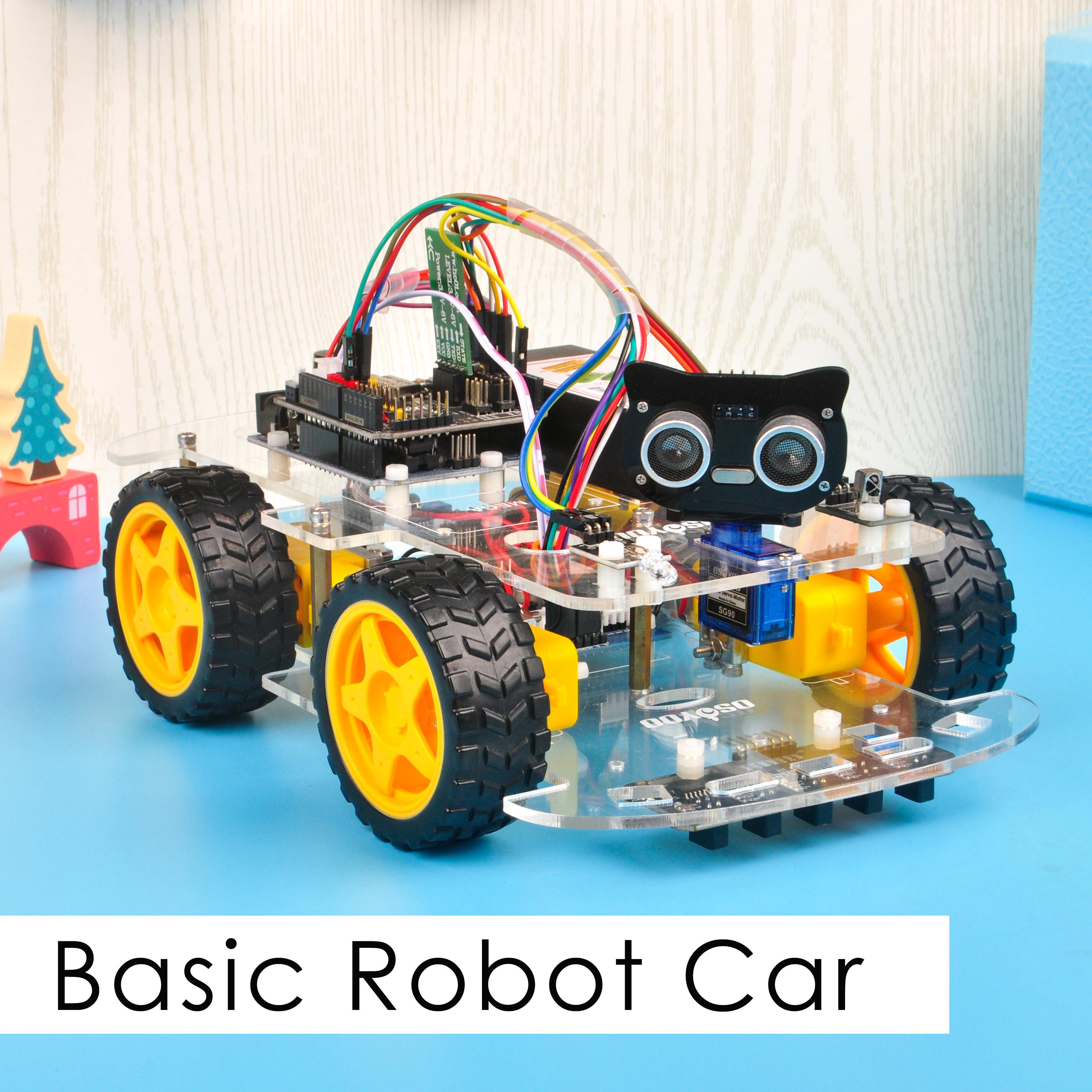OSOYOO V2.1 Robot car kit Lesson 1: Basic Robot car