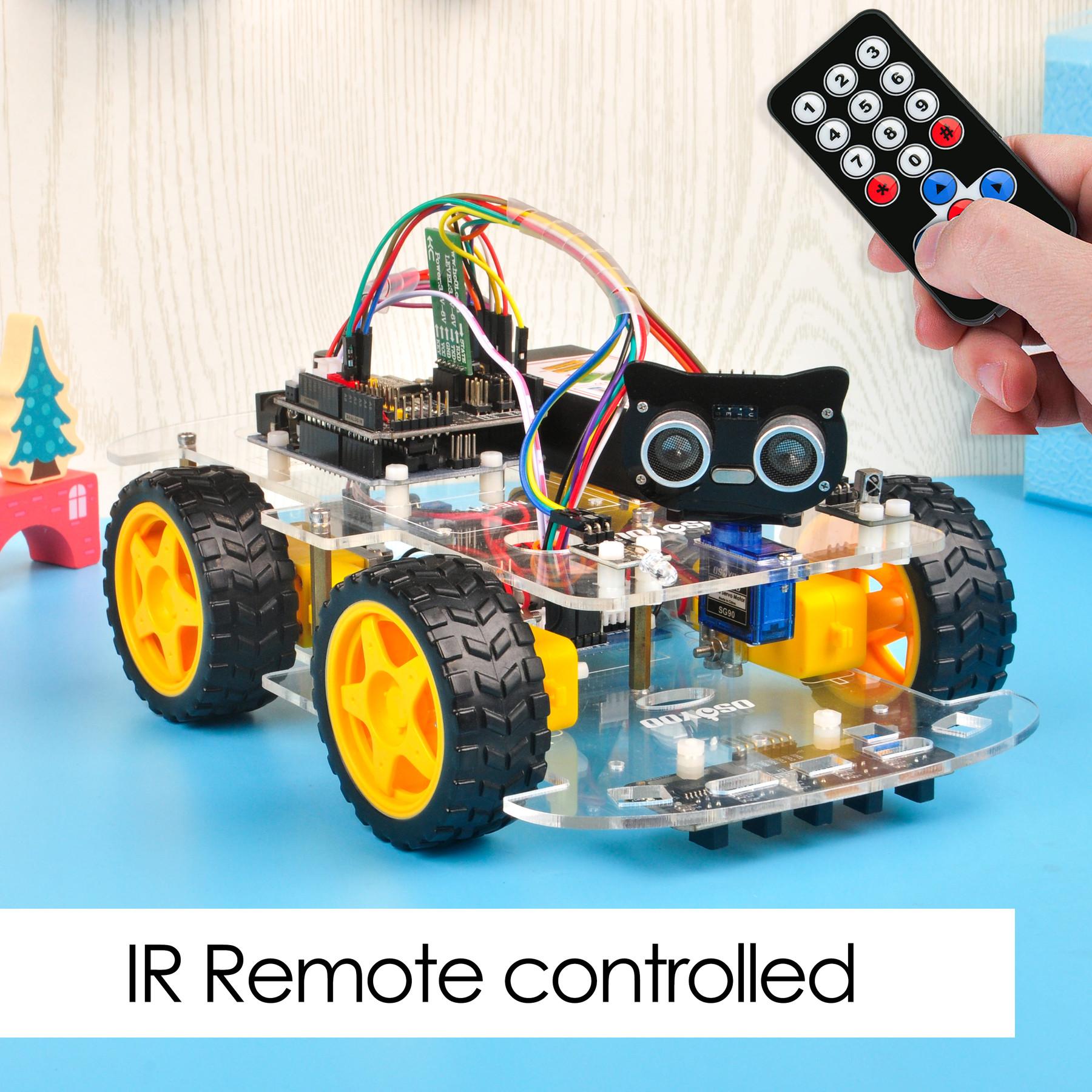 OSOYOO V2.1 Robot car kit Lesson 2: IR Remote Control Robot Car