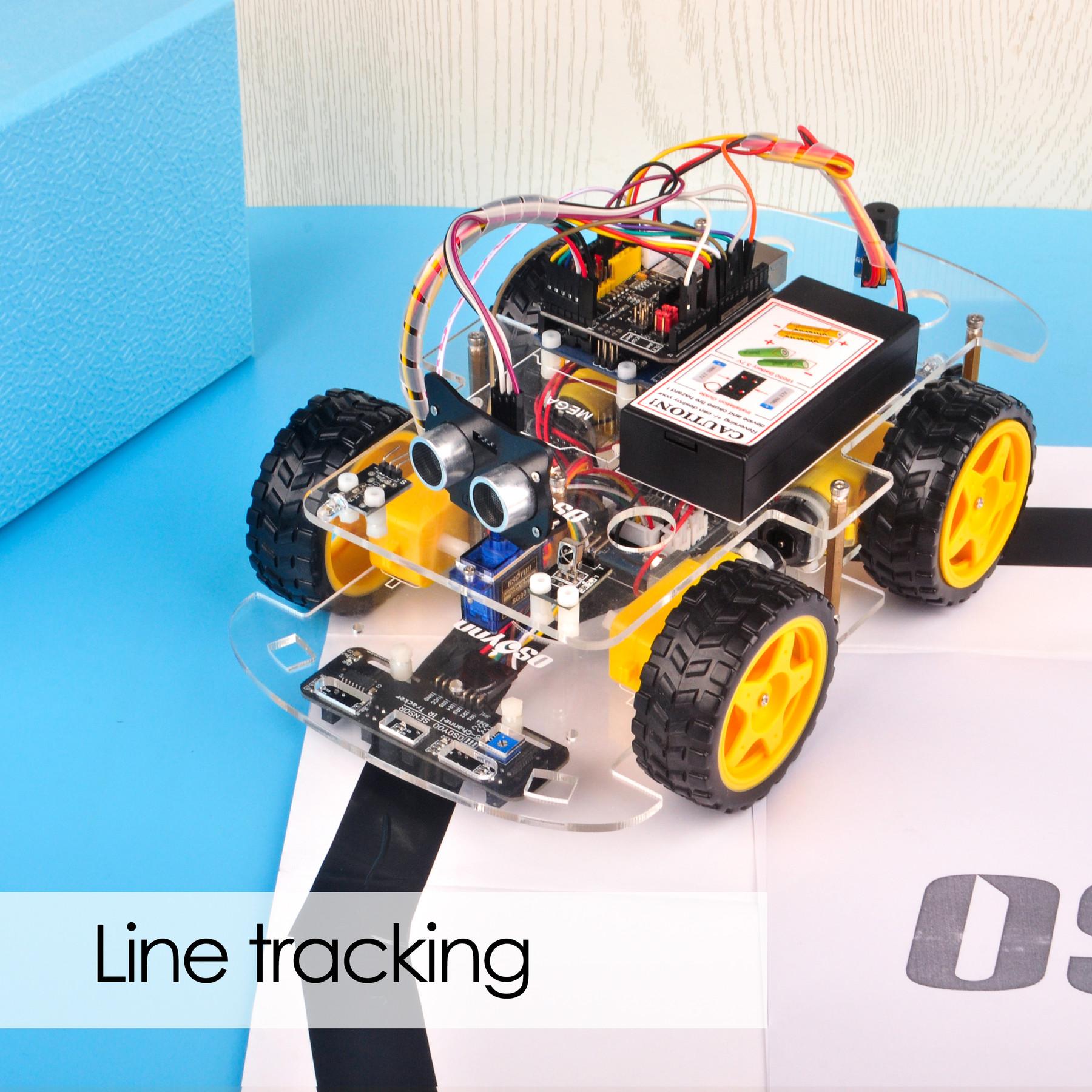 OSOYOO V2.1 Robot car kit Lesson 4: Tracking Line Robot Car