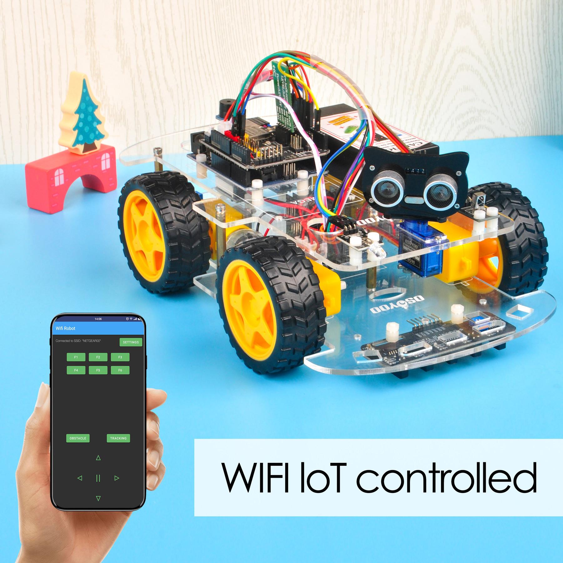 Osoyoo V2.1 Robot Car Lesson 6: Use Wifi to control an IoT Robot Car