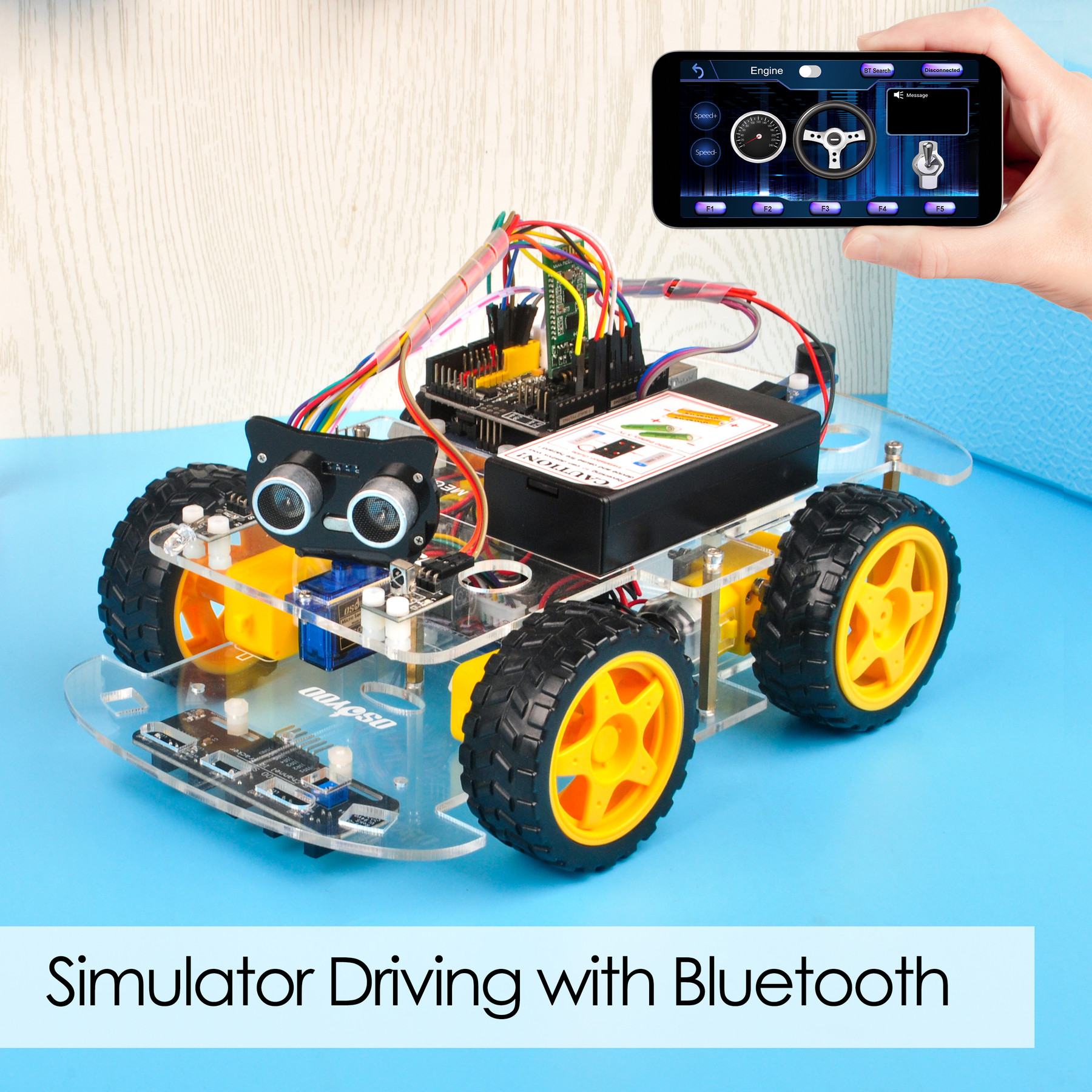 Osoyoo V2.1 Robot Car Lesson 7: Imitation Driving with Bluetooth APP