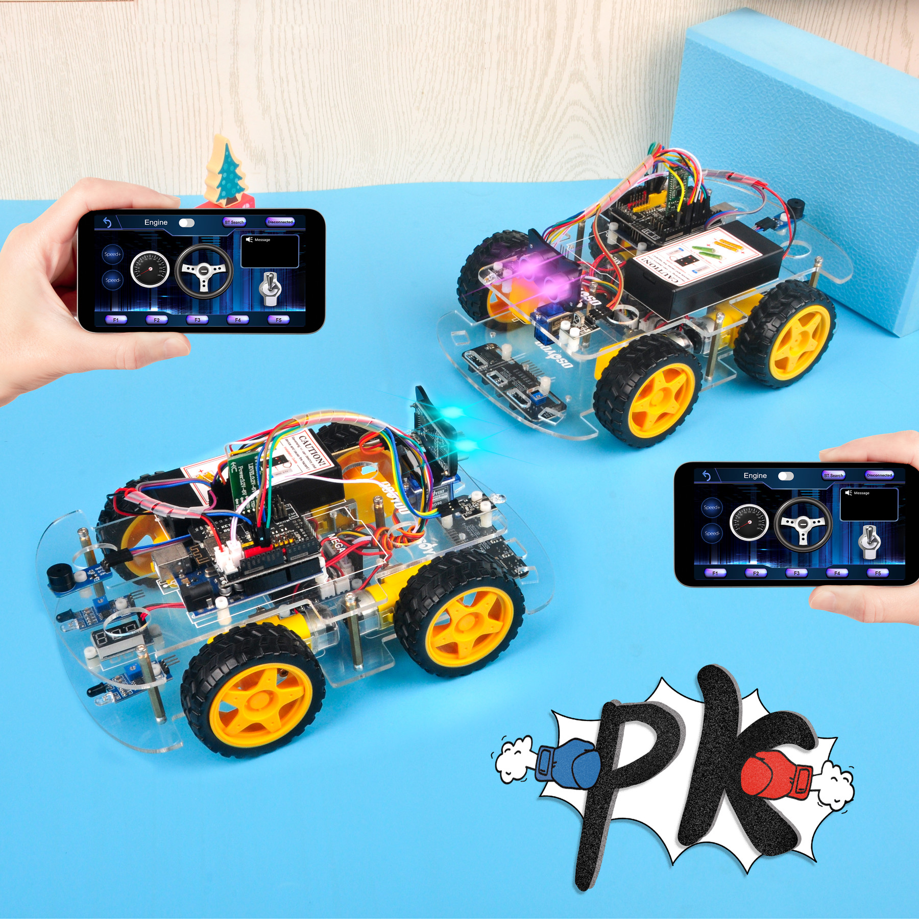 Arduino V2.1 Robot Car Lesson 8: Fighting Game