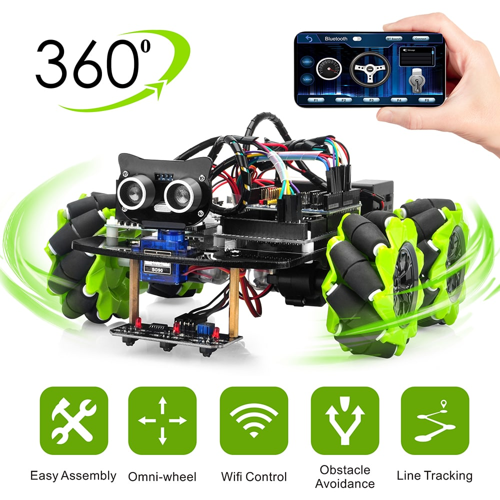 Mars Explorer Mecanum Wheel Robotic Kit for Arduino Mega2560 Introduction (Model 2019016600)